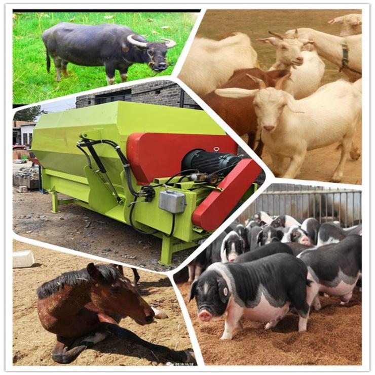 奶牛场TMR搅拌机 牛羊马猪饲料全自动拌料机
