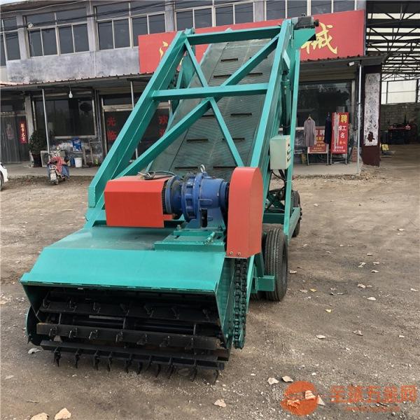 青贮取料机带轮移动运料喂牛挖料机皮带上料取料机