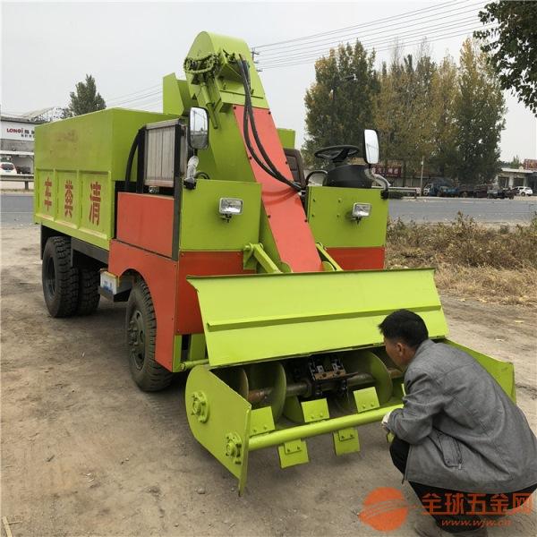 单人驾驶清粪车干湿牛粪清理刮粪车柴油清粪车