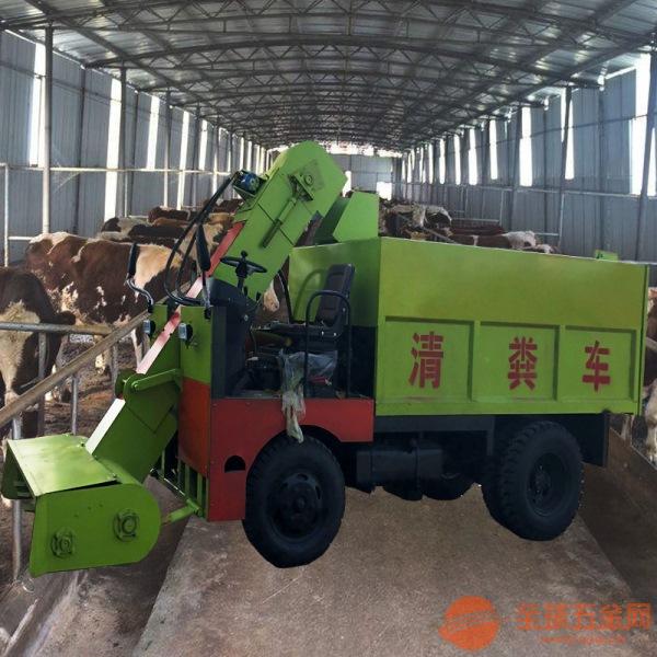 忠县柴油机带动刮板清粪车60马力5方清粪车