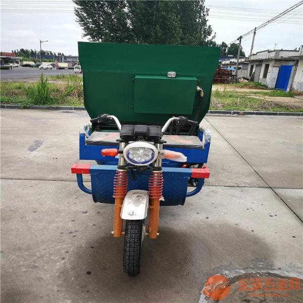 绥化多用途使用方便撒料车双座椅喂牛饲料车定做