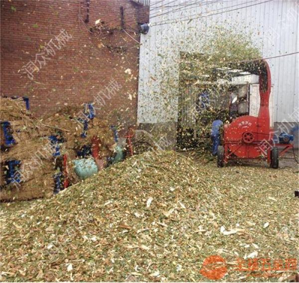自贡大型青贮牧草铡草机 自贡小型秸秆切片铡草机