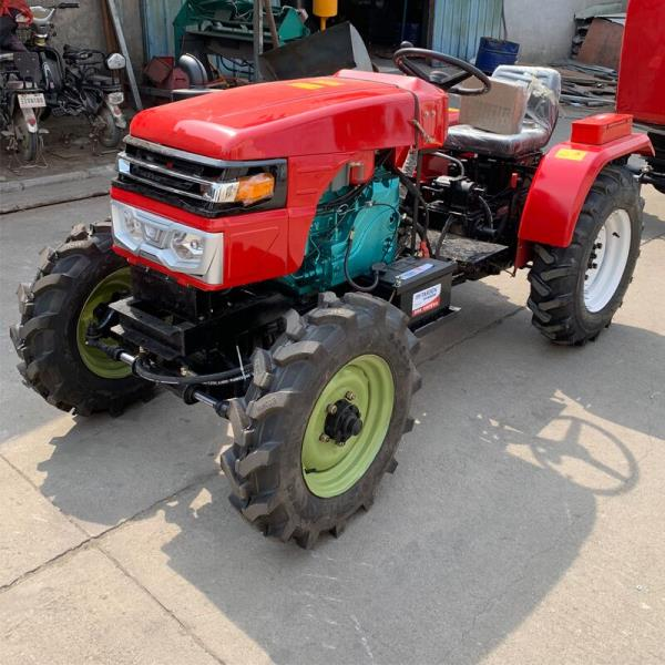 低矮四驱多功能果园管理机 大棚专用低矮型拖拉机