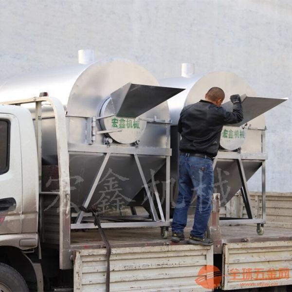 15型煤气糖炒栗子机器 全自动不锈钢滚筒炒货机 贵阳