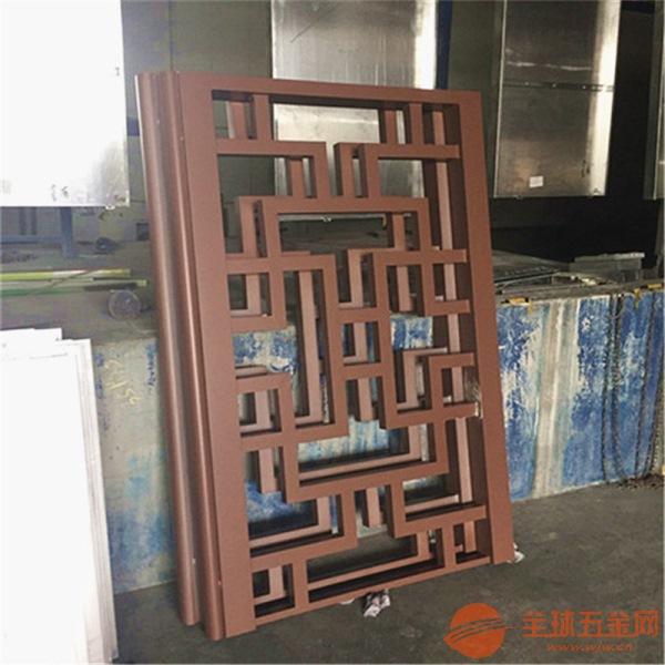 仿古铝格栅窗花上海博物馆,木纹铝花格窗/冰裂纹造型铝合金花格,质优价低