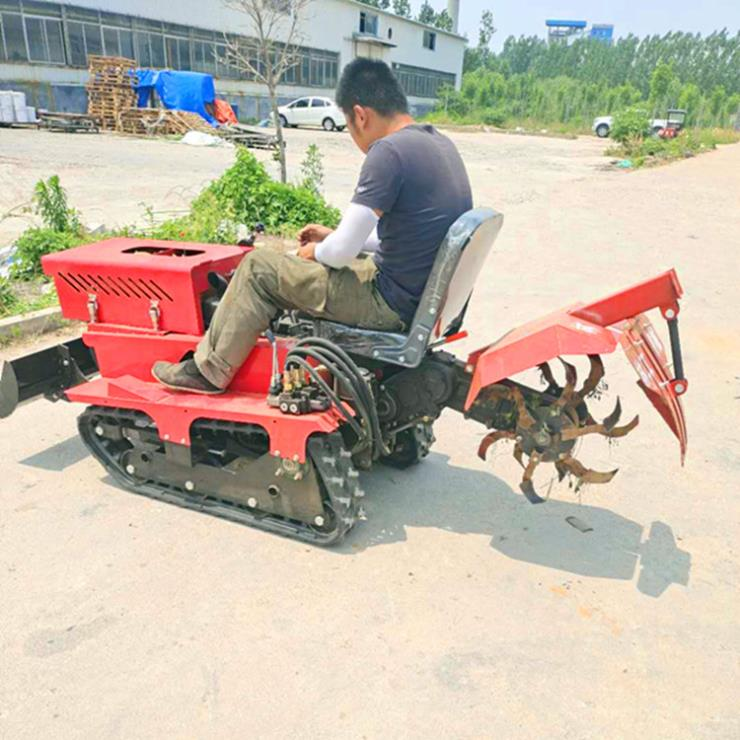 永定區果園開溝施肥機械履帶開溝回填機林工品牌