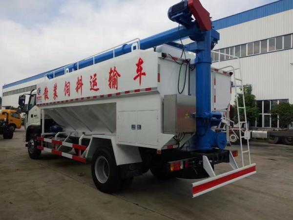 12吨饲料运输车报价_柳汽乘龙散装饲料车_做工精致