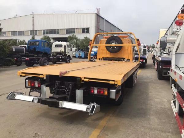 6吨清障车报价 长平板清障车 轿车拖车赚钱快