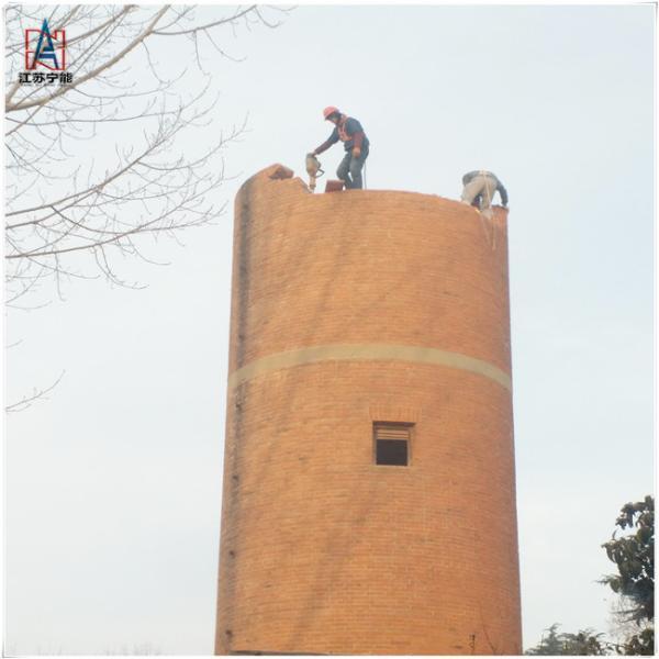 70米烟囱拆除如何施工 今日施工图片