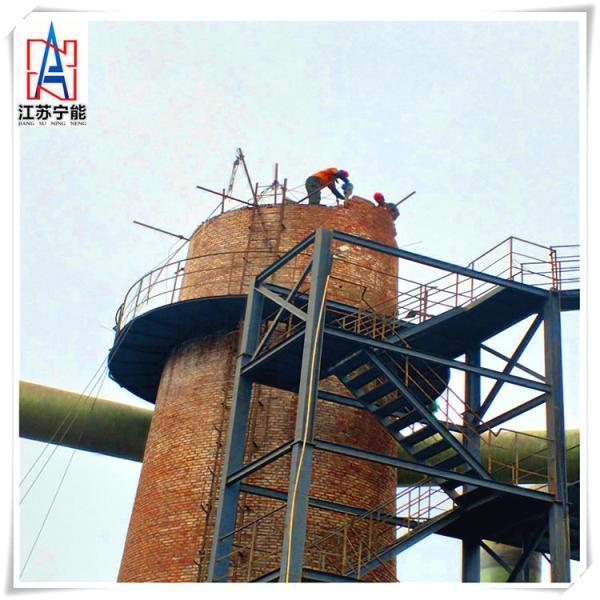 35米砖烟囱拆除施工图片