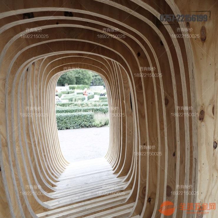 弧形铝方通造型木纹烤漆安装效果哪家工厂好