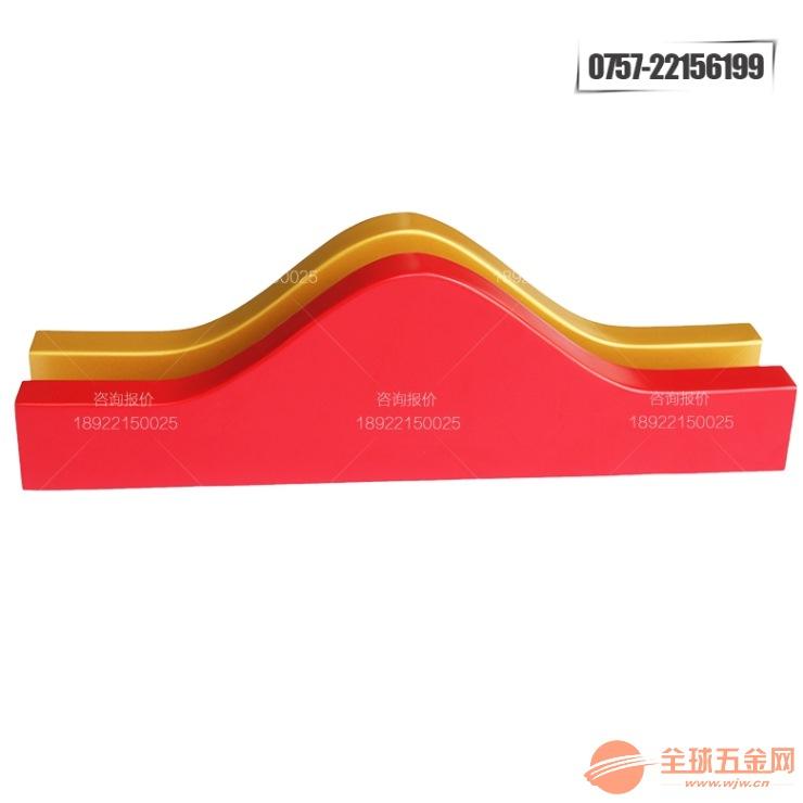 木纹弧形条烤漆造型铝方通厂家加工定制