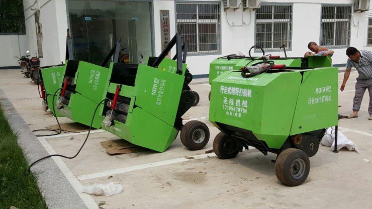 瓯海区水稻秸秆捡拾打捆机 工作视频