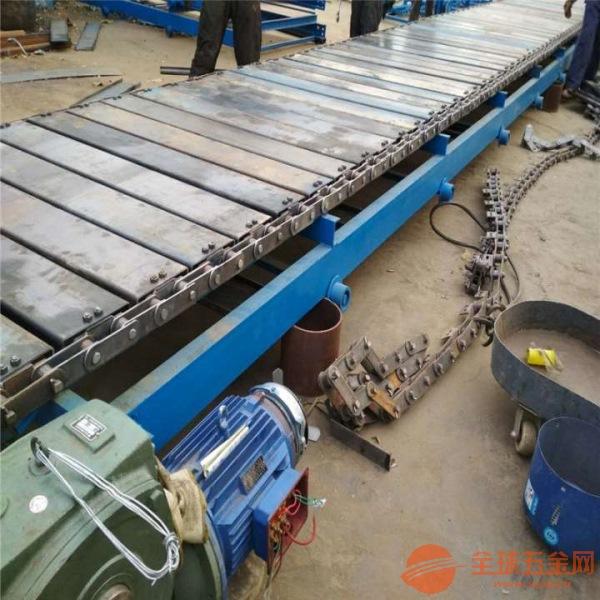 黑色橡胶带加厚运输平稳铁件运输链板输送机调试厂家直销