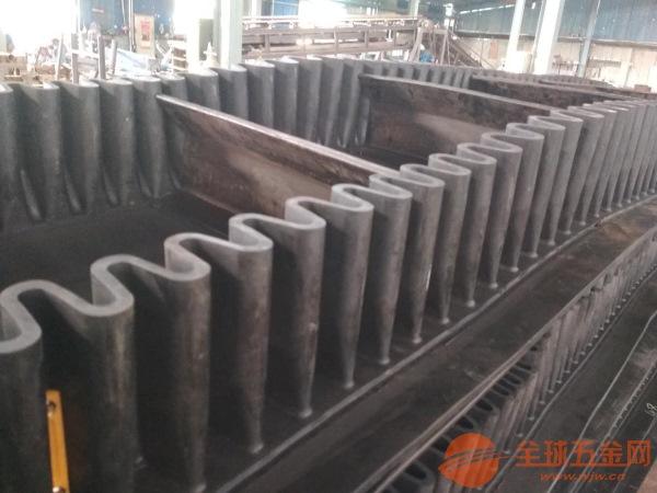 矿粉用大倾角输送机流水线矿石输送机