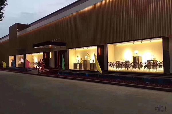 浙江新光集团-新光文化馆案例 铝方通 型材四方管