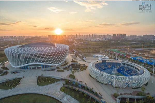 武汉光谷国际网球中心案例铝单板、铝方通厂家供应