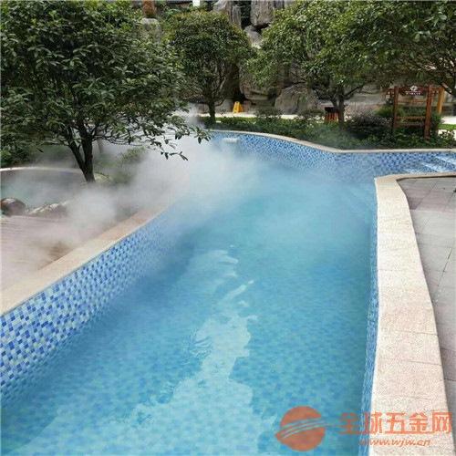温泉酒店人工湖人造雾效