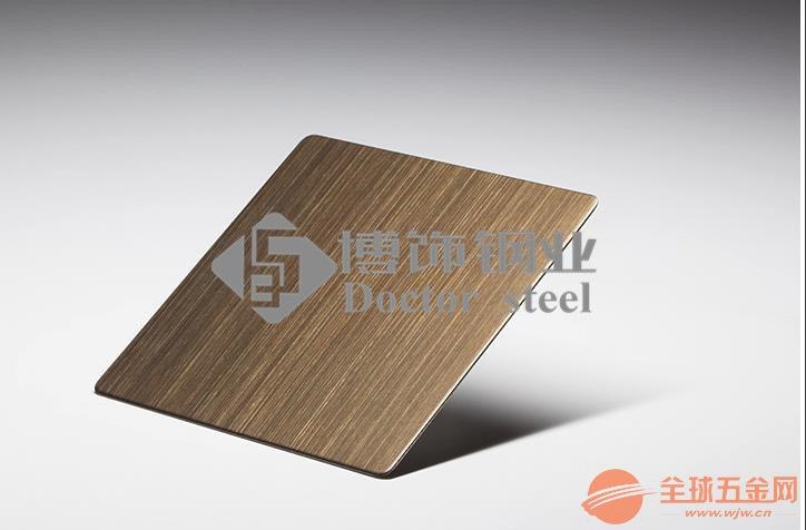 不锈钢镀铜拉丝板,不锈钢蚀刻镀铜板,不锈钢镀红古铜