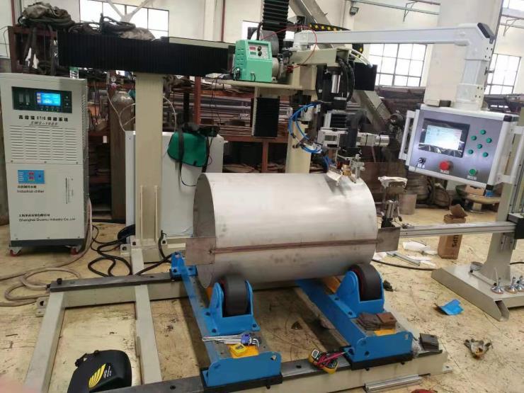 压力容器不锈钢换热器直环缝深熔焊机