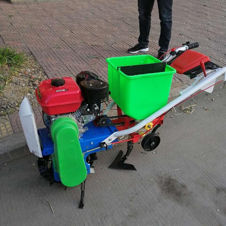 芝麻单行播种机 汽油链轨式播种器 点播机厂家