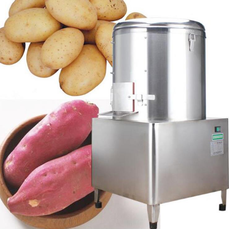 中型滚桶土豆削皮机 不锈钢毛芋头去皮机