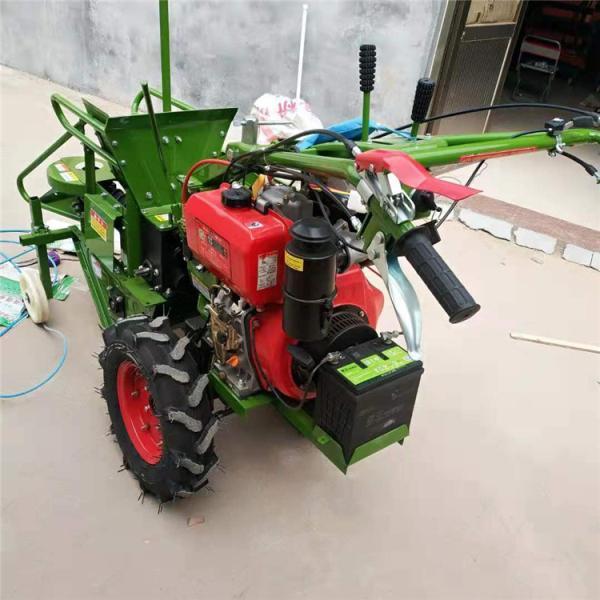 手扶车带玉米收割机 单行家用收玉米机 掰棒子机