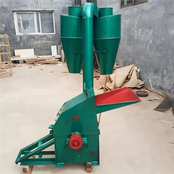 錘片式秸稈粉碎機 沙克龍除塵粉碎機 三相電草粉機