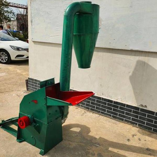 家用锤片饲料粉碎机 秸秆稻草粉碎机 三相电草粉机