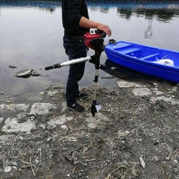 多檔位小型掛槳機 木筏竹排船用推進器 汽油掛漿機
