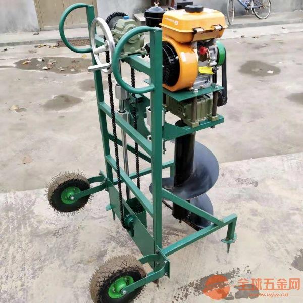 鄂尔多斯果园果树施肥钻眼机 动力强劲汽油挖坑机