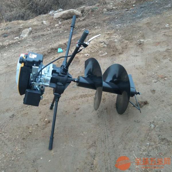包头手推框架挖窝机多功能汽油挖坑机价格