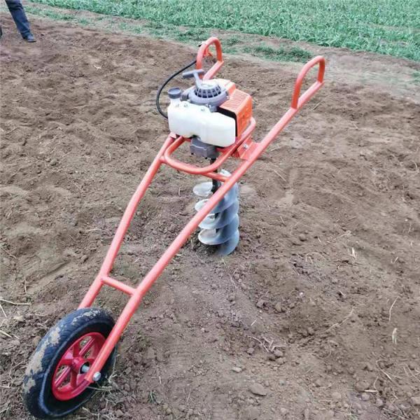 济宁电线杆子埋杆专用挖坑机 轻便汽油钻眼机