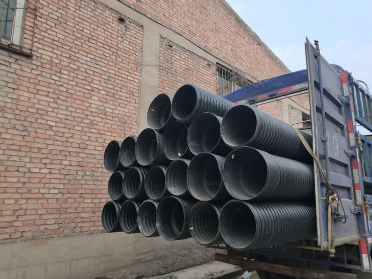 太原清徐波紋管塑料排水管道