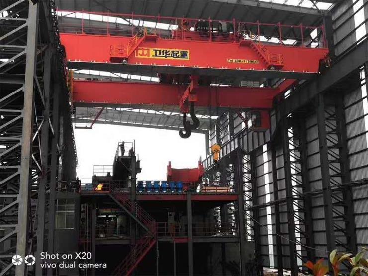 精密机械22.5米16吨双梁门起重机