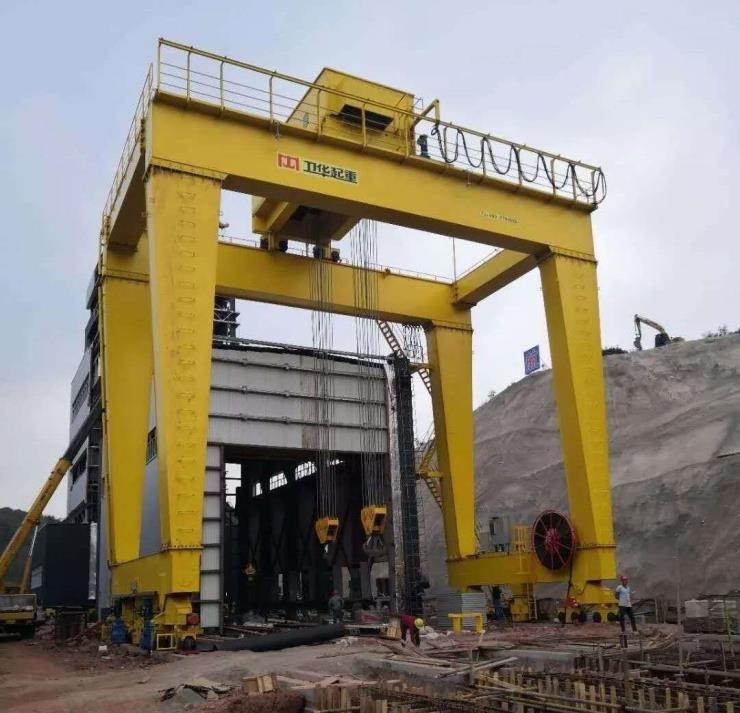 信陽衛華5噸電動葫蘆龍門吊廠家
