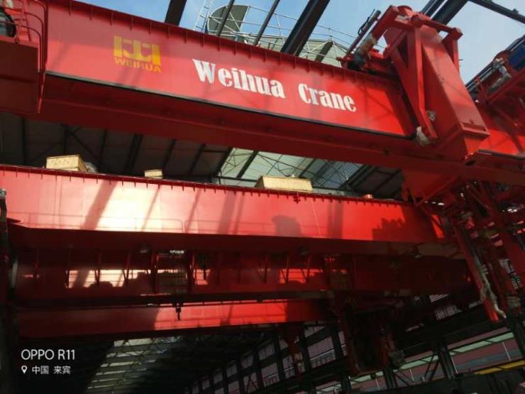 25吨跨度19.5米电动悬挂过轨起重机√【卫华股份】设计