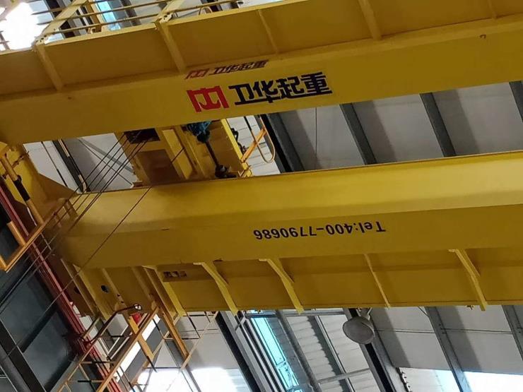 卫华集团新闻√32吨跨度33米起升9米单梁航车【防爆
