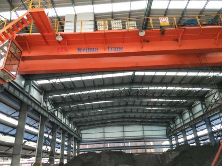 【卫华股份】:50吨跨度13.5米电动单梁悬挂起重机