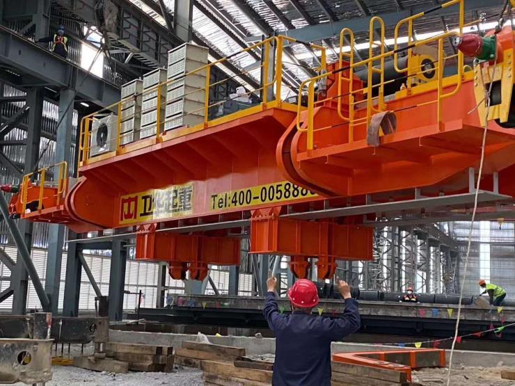 河南衛華新聞:140噸無軌龍門架品質保證