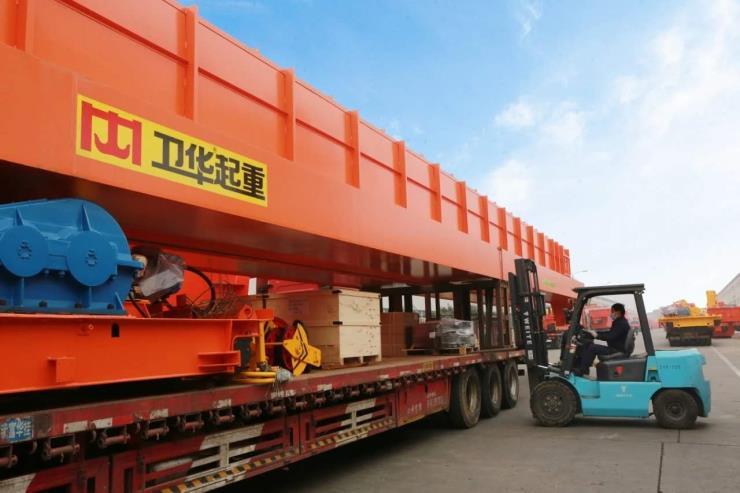【卫华股份】:110吨跨度25.5米单梁桥式起重机欢