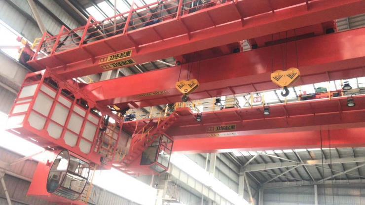 河南卫华新闻:200吨料箱电磁起重机跨度联系人地址