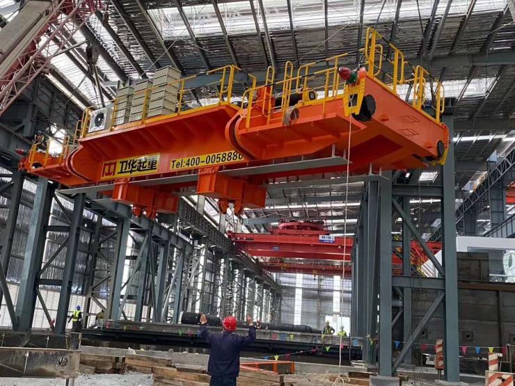 30吨跨度22.5米电动悬挂过轨起重机√【卫华股份】