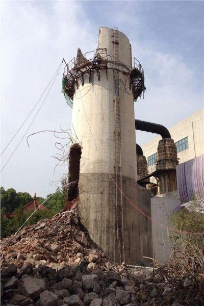 济宁倾斜烟囱拆除公司