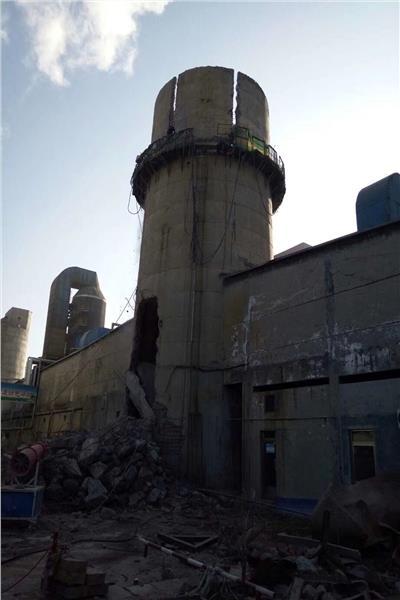 海口砖烟囱拆除公司