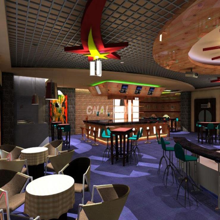 餐厅地铁等天花吊顶主要装饰铝格栅的装饰材料