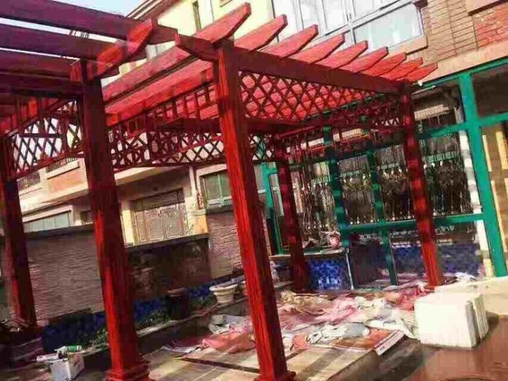 广州铝合金花架凉亭定做