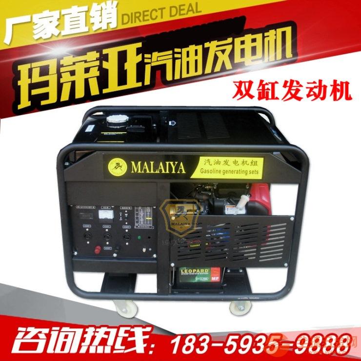 玛莱亚双缸10KW汽油发电机组银行网点发电机