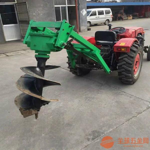 农用大棚王后置挖坑机 四轮拖拉机钻孔机 便携式小型种树打坑机