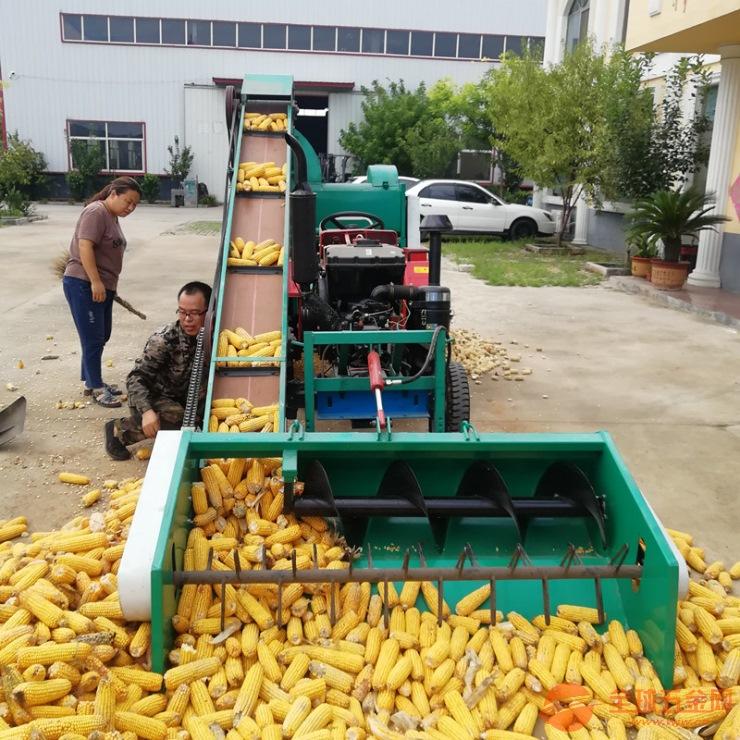 上海四轮干湿两用玉米脱粒机